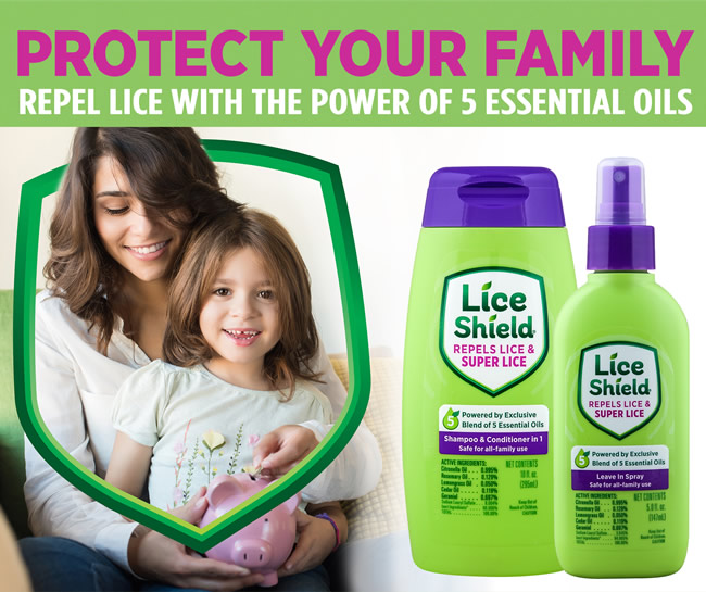 Lice Shield, repels lice, hair treatment